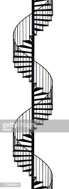 Silhouette of spiral staircase