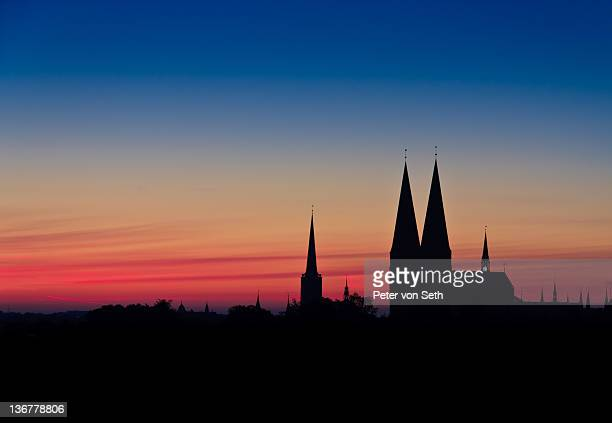 Silhouette of St Mary's church