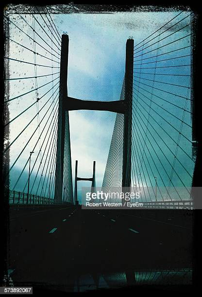 Silhouette Of Suspension Bridge
