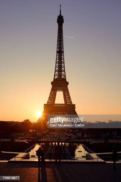 Silhouette Of Tower At Sunset