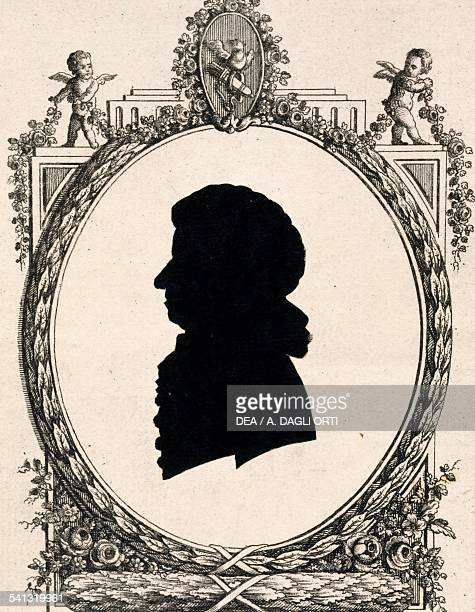 Silhouette of Wolfgang Amadeus Mozart composer Austria 18th century
