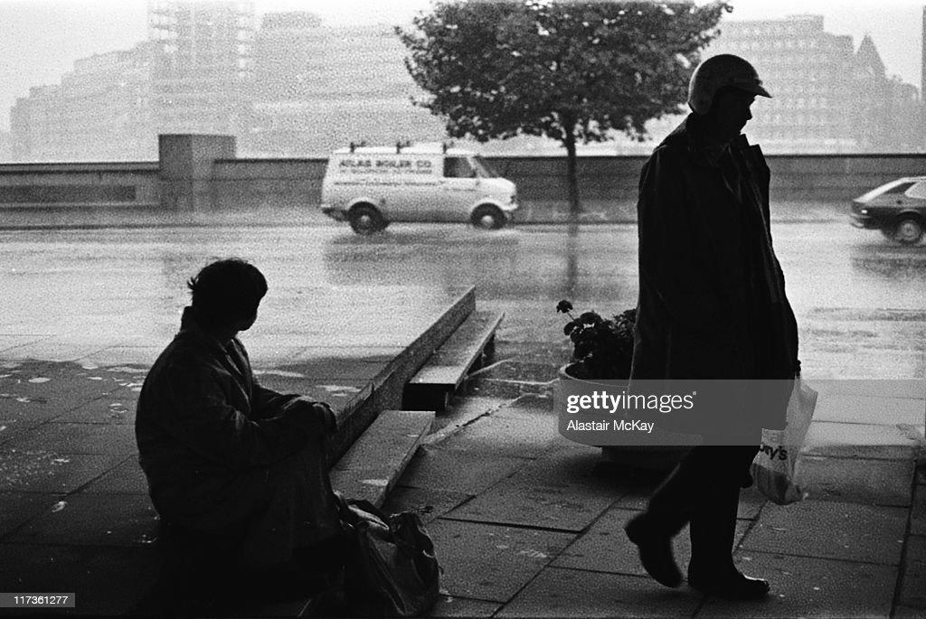 silhouette people on street, London : Stock Photo