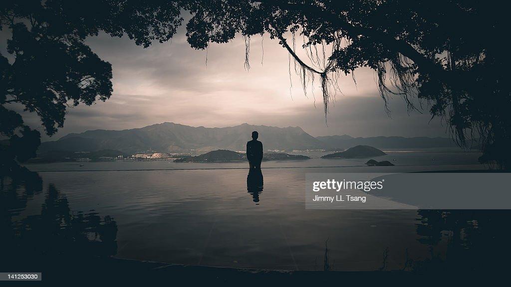 Silhouette person : Stock Photo