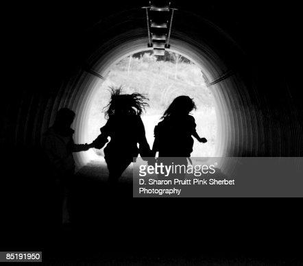 Silhouette Run : Stock Photo