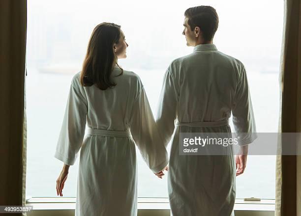 Silhouette Window Couple