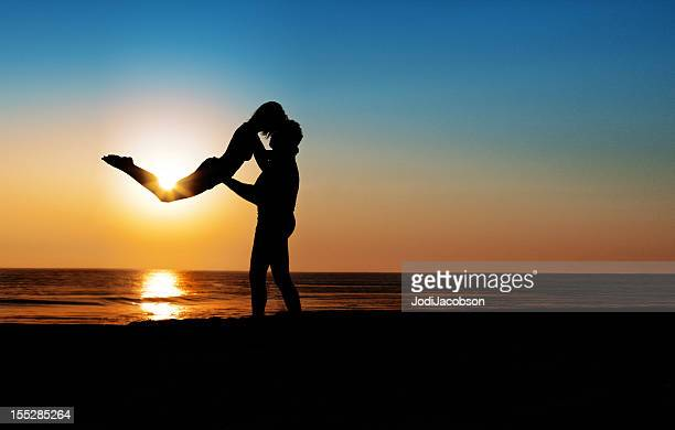 Silhouettes in love