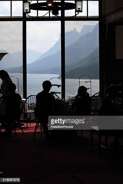 Silhoutte Aussicht im Hotel Prinz der Wales in Richtung Cedar Court Lake