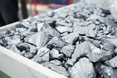 Silicon rocks sit in a tray at the REC Solar ASA manufacturing facility in Singapore on Friday Sept 5 2014 REC Solar has more than quadrupled to lead...