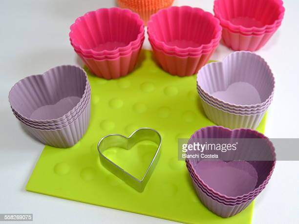 Silicone molds for cupcakes in colors