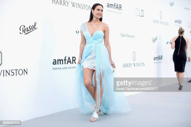 Silja Litvin arrives at the amfAR Gala Cannes 2017 at Hotel du CapEdenRoc on May 25 2017 in Cap d'Antibes France