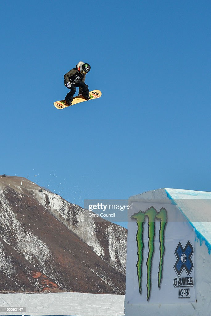 Silje Norendal soars en route to a gold medal in the women's snowboard slopestyle Winter X-Games 2014 at Buttermilk Mountain on January 25, 2014 in Aspen, Colorado.
