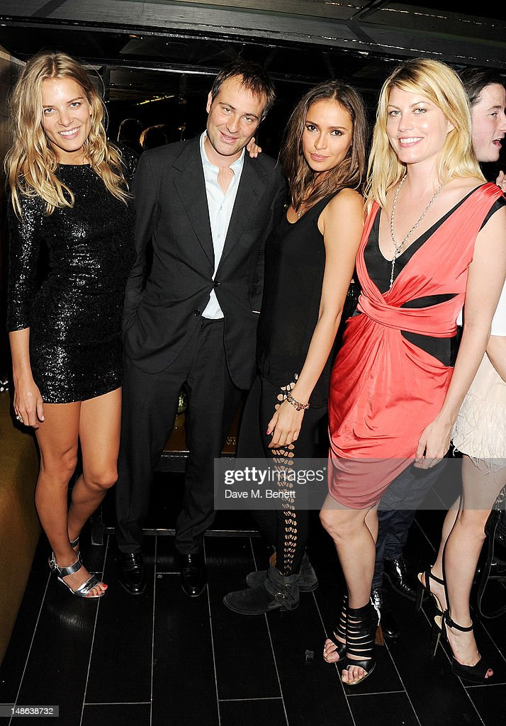 Silje Vallevik Ben Goldsmith Sasha Volkova and Meredith Ostrom attend the launch of Johnnie Walker Gold reserve at Whisky Mist on July 18 2012 in...