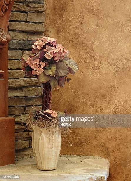 Seta Fiori Rock Hearth & parete marrone sintetica