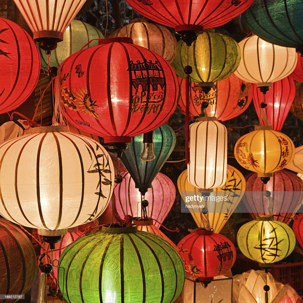 'Silk lanterns in Hoi An city, Vietnam'