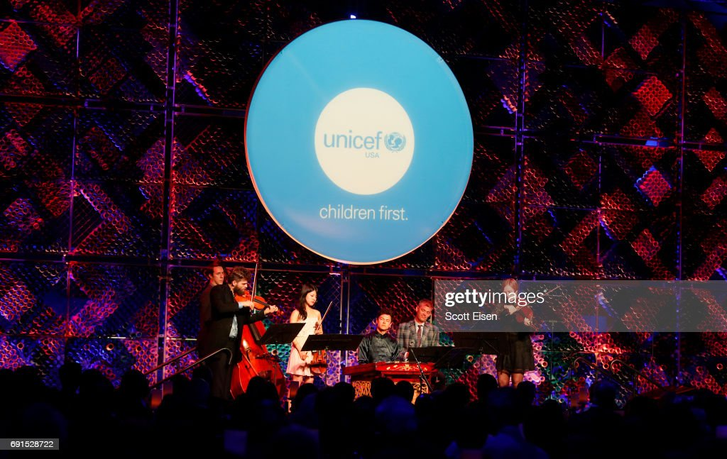 Silk Road Ensemble performs on stage during UNICEF Children's Champion Award Dinner honoring Yo-Yo Ma and Alli and Bill Achtmeyer at The Castle at Park Plaza on June 1, 2017 in Boston, Massachusetts.