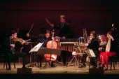 Silk Road Project with YoYo Ma at Carnegie Hall on Saturday night May 4 2002This imageYoYo Ma second from left with the Silk Road Ensemble