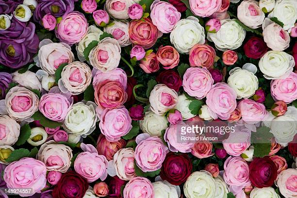 Silk roses on display for Valentines Day at 1881 Heritage shopping centre, Tsim Sha Tsui.