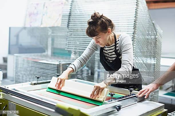 Silk screen worker printing
