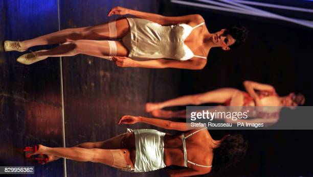 Silk sculpturing underwear from the latest collection by designer Antonio Berardi on show at London Fashion Week last night See PA story FASHION Week...
