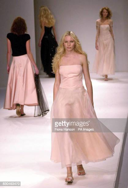 Silk tulle and organdy evening wear by Jasper Conran at London Fashion Week Spring/Summer 2001 in London