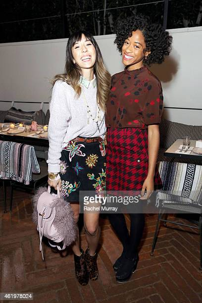 Silke Labson and Kilo Kish attend NYLON Celebrates Anna Kendrick's February Cover at Gracias Madre on January 21 2015 in West Hollywood California