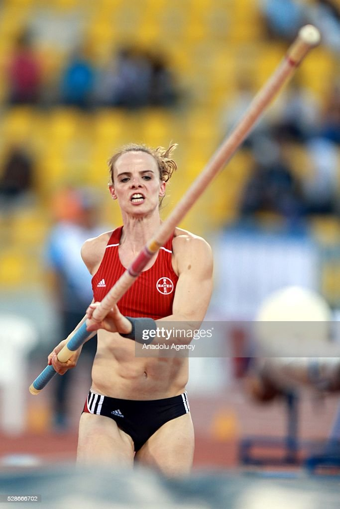 Silke Spiegelburg of German competes during the Pole Vault at the Diamond League athletics competition at the Qatar Sports Club Stadium in Doha, Qatar on May 6, 2016.