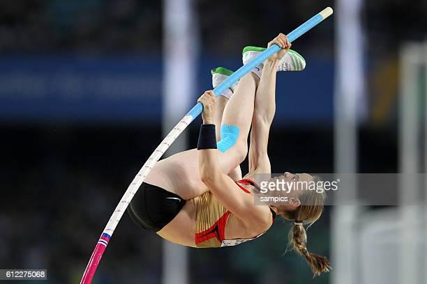 Silke Spielgelburg GER Stabhochsprung der Frauen Pole Vault women final IAAF Leichtathletik WM Weltmeisterschaft in Daegu Sudkores 2011 IAAF world...