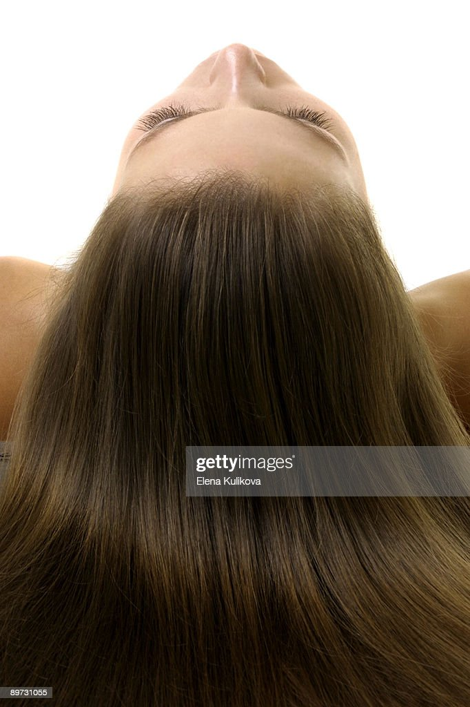 Silky and Shiny Brunette : Stock Photo
