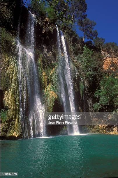 Sillans waterfall in Provence, France