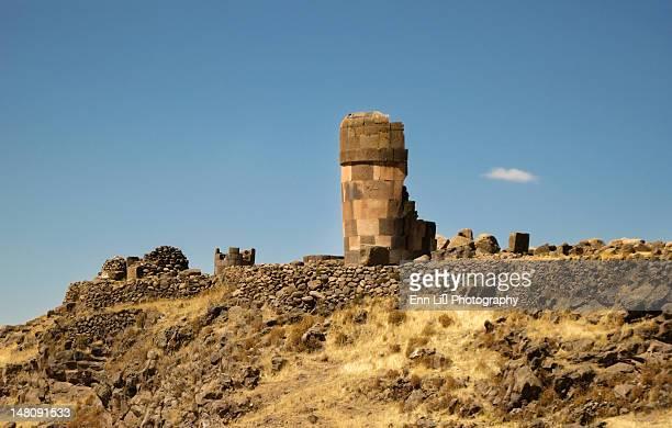 Sillustani ruins near Lake Tititaca
