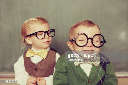 Silly Nerds : Stock Photo
