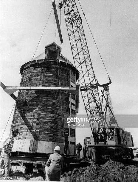 Silo Move For Preservation A crane moves « rare 15sided wooden silo 250 feet to preserve it and make room for townhouses at W 90th Ave and Wadsworth...