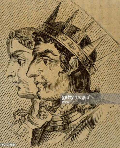 Silo of Asturias King of Asturias from 774 to 783 Portrait Engraving