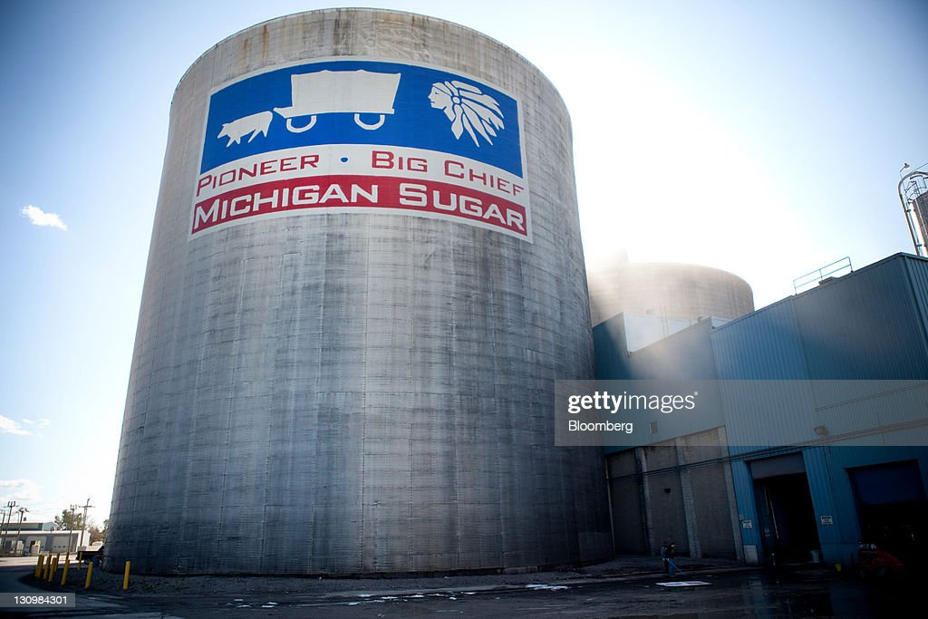 A silo that will hold sugar processed from sugar beets stands at the Michigan Sugar Co. in Bay City, Michigan, U.S., on Monday, Oct. 24, 2011. U.S. sugar supplies this year will fall to the lowest since record-keeping began in 1960 as consumption rises and a smaller beet crop limits supplies left from last season, according to a U.S. Department of Agriculture report released earlier this month. Photographer: Adam Bird/Bloomberg via Getty Images