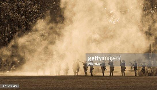 silouettes in cannon smoke II