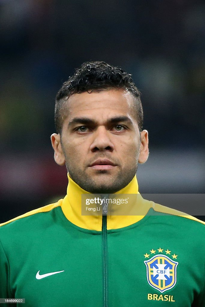 Silva Daniel of Brazil poses during the international friendly match between Brazil and Zambia at Beijing National Stadium on October 15, 2013 in Beijing, China.