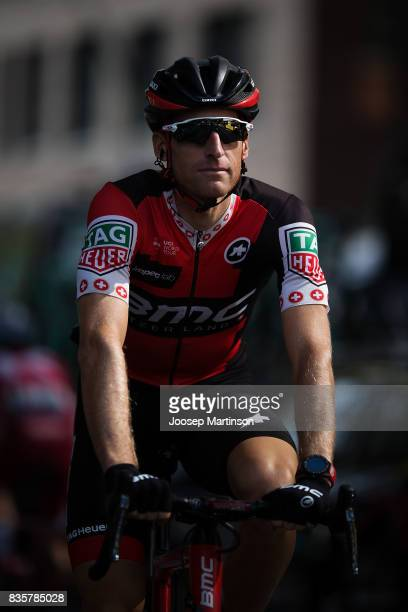 Silvan Dillier of BMC Racing prepares during the EUROEYES CYCLASSICS Hamburg race on August 20 2017 in Hamburg Germany