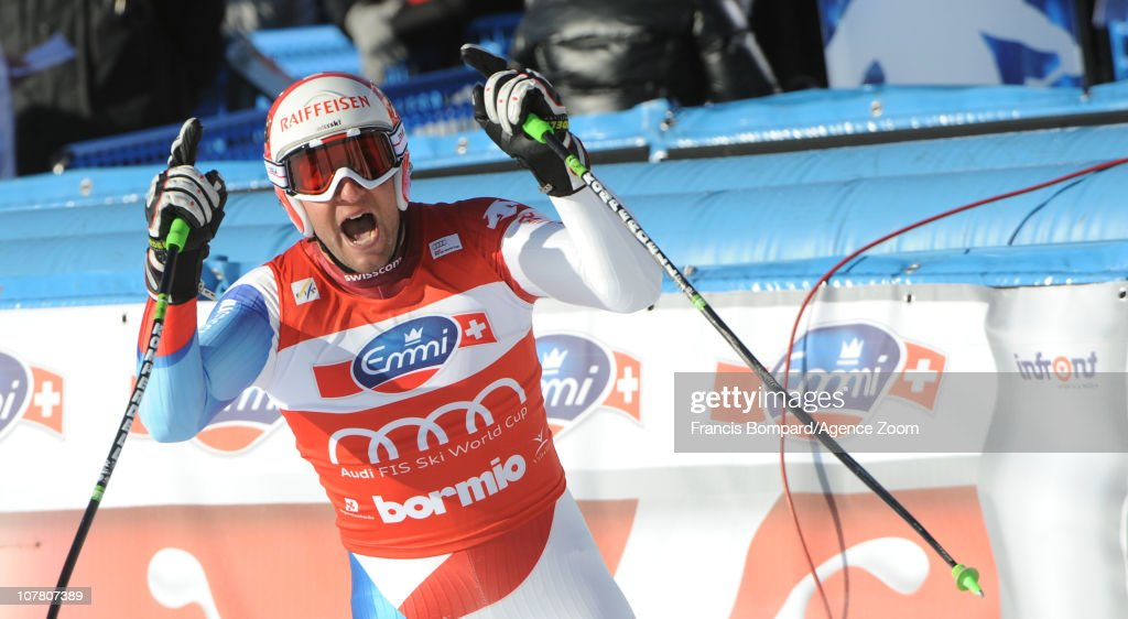 <a gi-track='captionPersonalityLinkClicked' href=/galleries/search?phrase=Silvan+Zurbriggen&family=editorial&specificpeople=817527 ng-click='$event.stopPropagation()'>Silvan Zurbriggen</a> of Switzerland takes 2nd place during the Audi FIS Alpine Ski World Cup Men's Downhill on December 29, 2010 in Bormio, Italy.