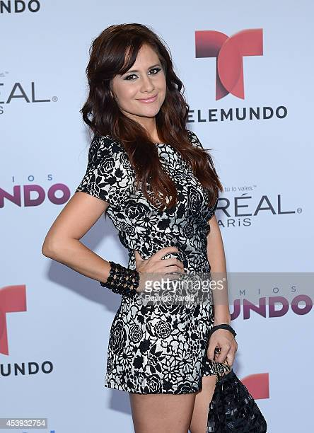 Silvana Arias arrives at Premios Tu Mundo Awards at American Airlines Arena on August 21 2014 in Miami Florida