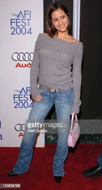 Silvana Arias during 2004 AFI Film Festival 'Bad Education' Arrivals at ArcLight Hollywood in Hollywood California United States