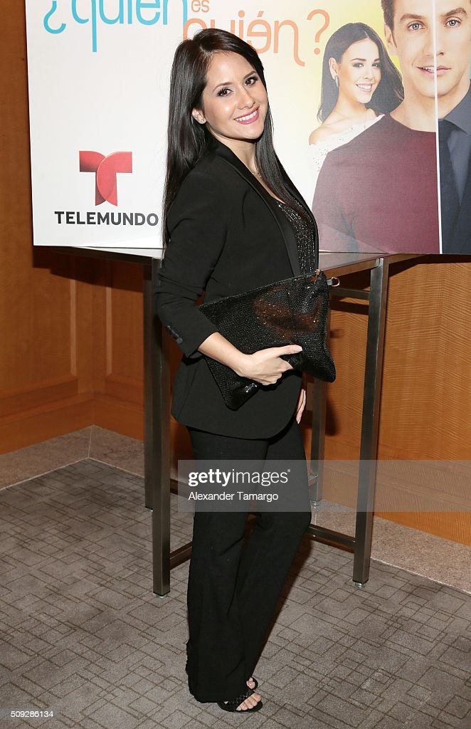 Silvana Arias is seen at the premier of Telemundo's 'Quien es Quien' at the Four Seasons on February 9, 2016 in Miami, Florida.