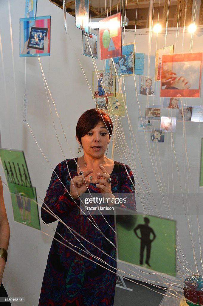 Silvana D'Mikos attends the Art Miami after party at Bakehouse Art Complex on December 8, 2012 in Miami, Florida.