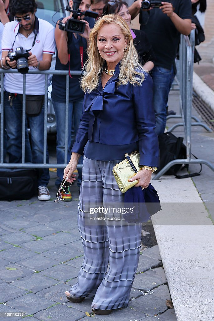 Silvana Giacobini attends the Valeria Marini And Giovanni Cottone wedding at Ara Coeli on May 5, 2013 in Rome, Italy.