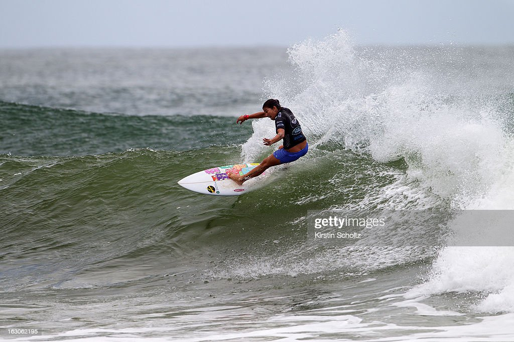 Silvana Lima of Brazil surfs during round two of the Roxy Pro Gold Coast 2013 on March 4, 2013 in Gold Coast, Australia.