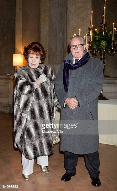 Silvana Pampanini attends Rome Fashion Week Opening Dinner Gala at Villa Medici on January 30 2009 in Rome Italy