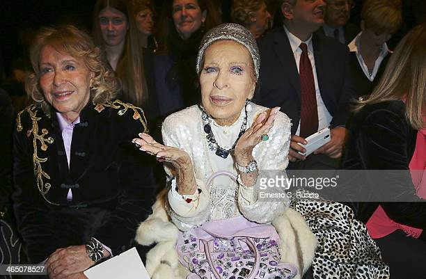 Silvana Pampanini attends the Curiel Couture fashion show as part of AltaRoma Fashion Week Spring/Summer 2014 on January 25 2014 in Rome Italy