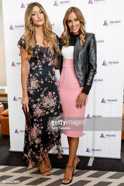 Silvana Philippoussis and Rebecca Judd arrives ahead of the 2nd Annual Mirabel Ladies Lunch at Glasshouse on February 24 2017 in Melbourne Australia