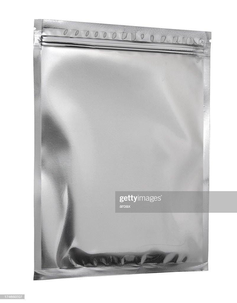 Silver Aluminum Bag -Flat