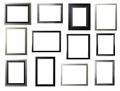Silver and Black Frame Selection