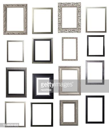 Argento e nero Ritratto riquadro di selezione multipla